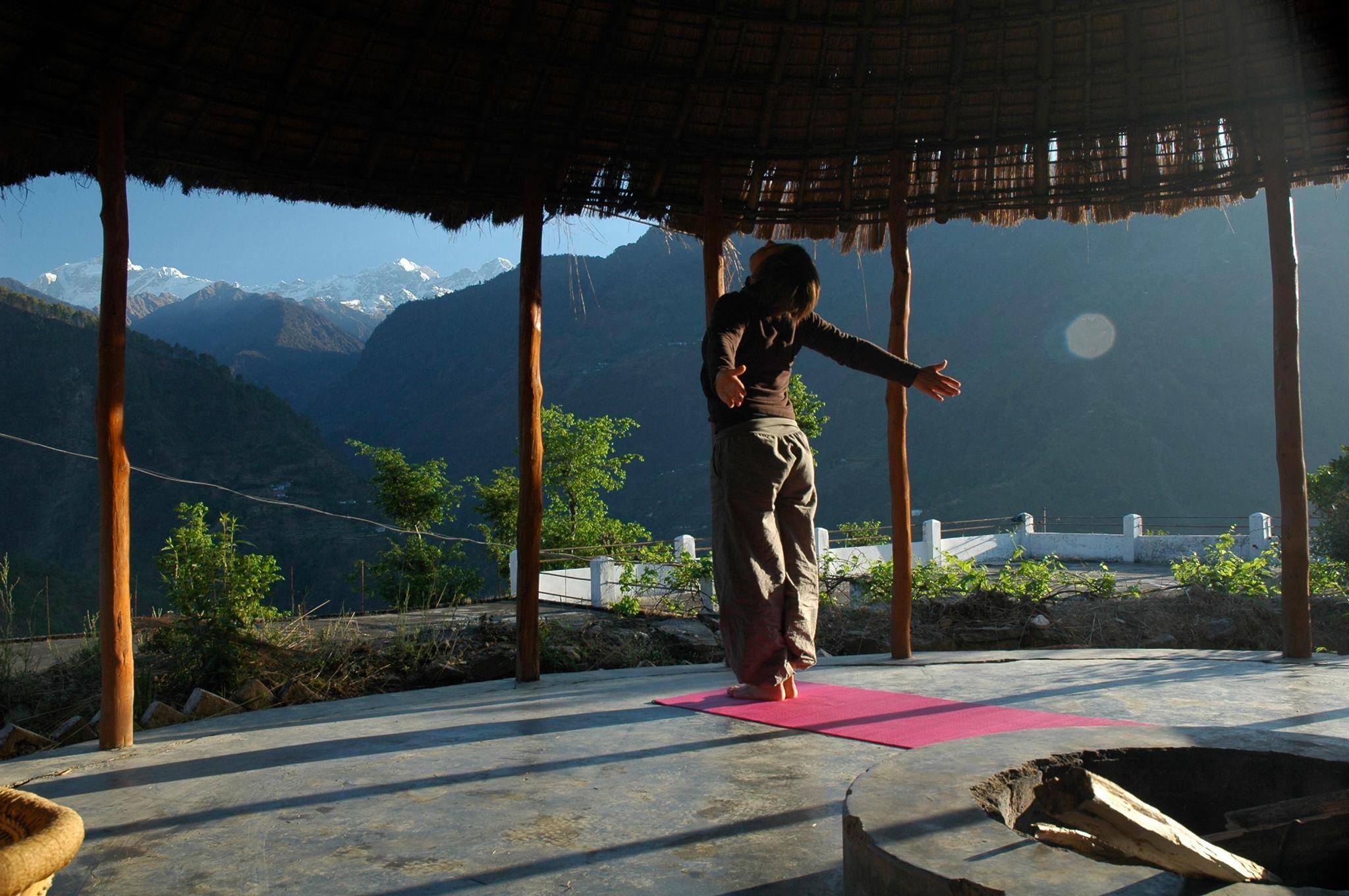 Vanessa dans l'Himalaya