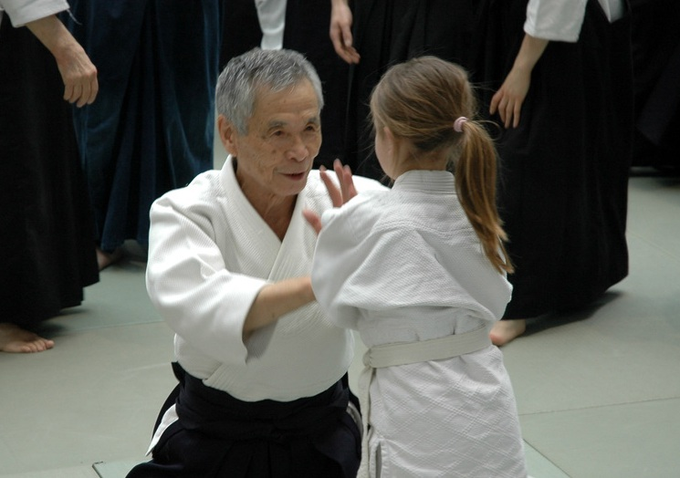 Tamura Sensei prenait soin de tous du débutant au plus ancien