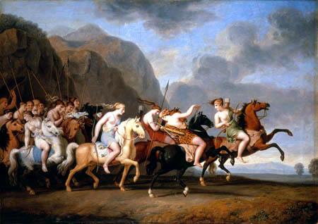 La bataille des Amazones par W. Tischbein (© Pinacothèque de Munich)